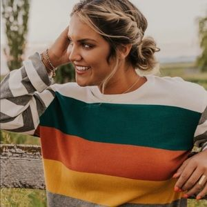 Payton stripe sweater by Roolee